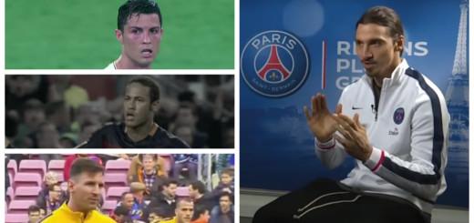 Cristiano Ronaldo,Leo Messi,Neymar,Zlatan Ibrahimović