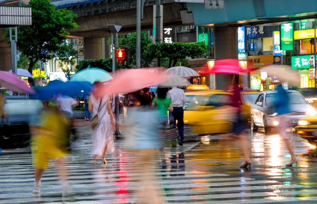 ulica, kiša, ljetna kiša