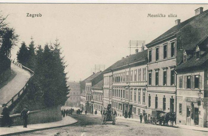 Mesnička ulica u doba Amalije pl. Remetinske