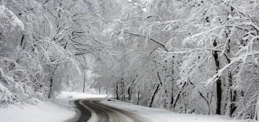 cesta, zima, snijeg