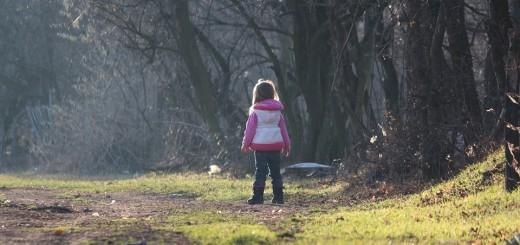 ilustracija 3, djevojčica, šuma