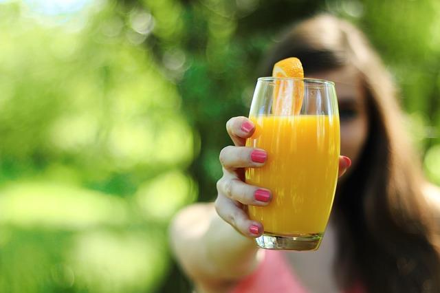 orange juice, oranžada, sok