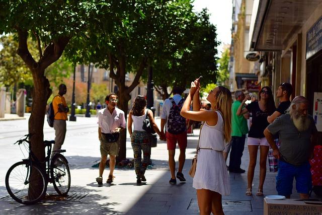 ljudi, turisti
