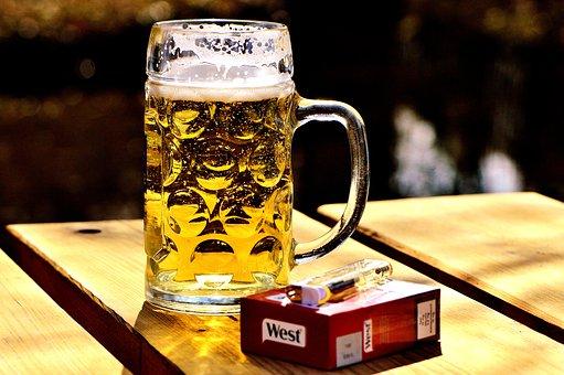 pivo, cigarete