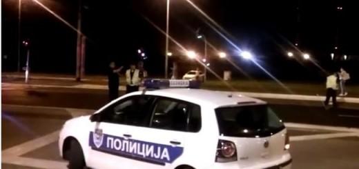 policija, srbija, noć