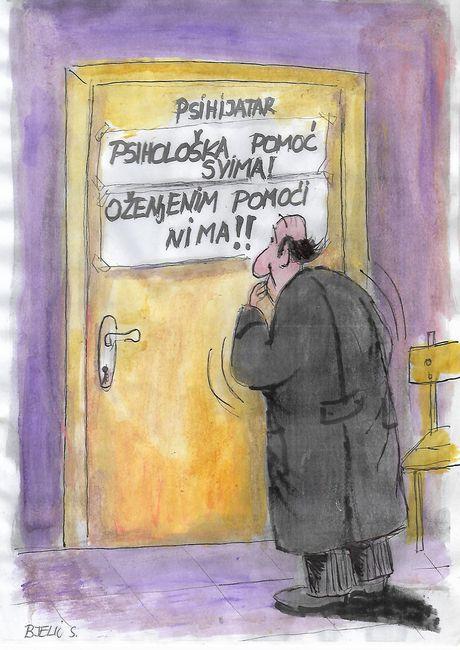 sveto bjelić, karikatura