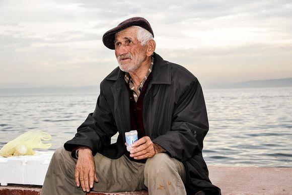 umirovljenik, ribar, starac