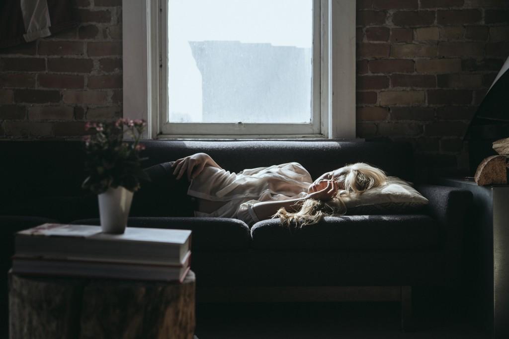 spavanje, žena, spavačica