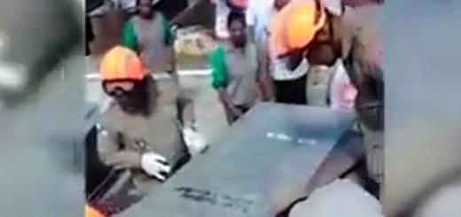 VIDEO: ŽIV ZAKOPAN U GROBNICI - Mladić pronađen po tragovima krvi
