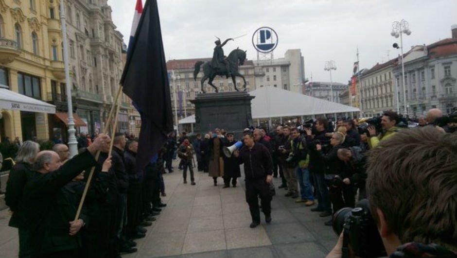 A-HSP U SREDIŠTU ZAGREBA: Pokazat ćemo komunistima i četnicima kako se voli Hrvatska