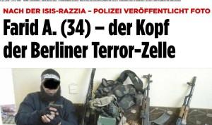 """Snimka Farida A. berlinske policije, objavljena u """"Bildu"""""""