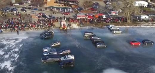 VIDEO: NEPOSLUŠNI VOZAČI – Unatoč zabrani parkirali na jezeru – i propali kroz led