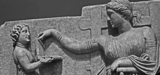 grčka skulptura, laptop