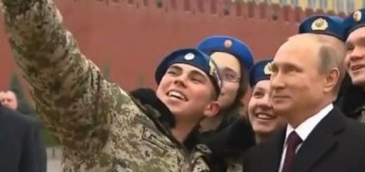 putin,vojnik, selfie