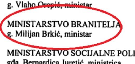BLAMAŽA: Svjedoči li ovaj dokument da već imamo ministra branitelja?