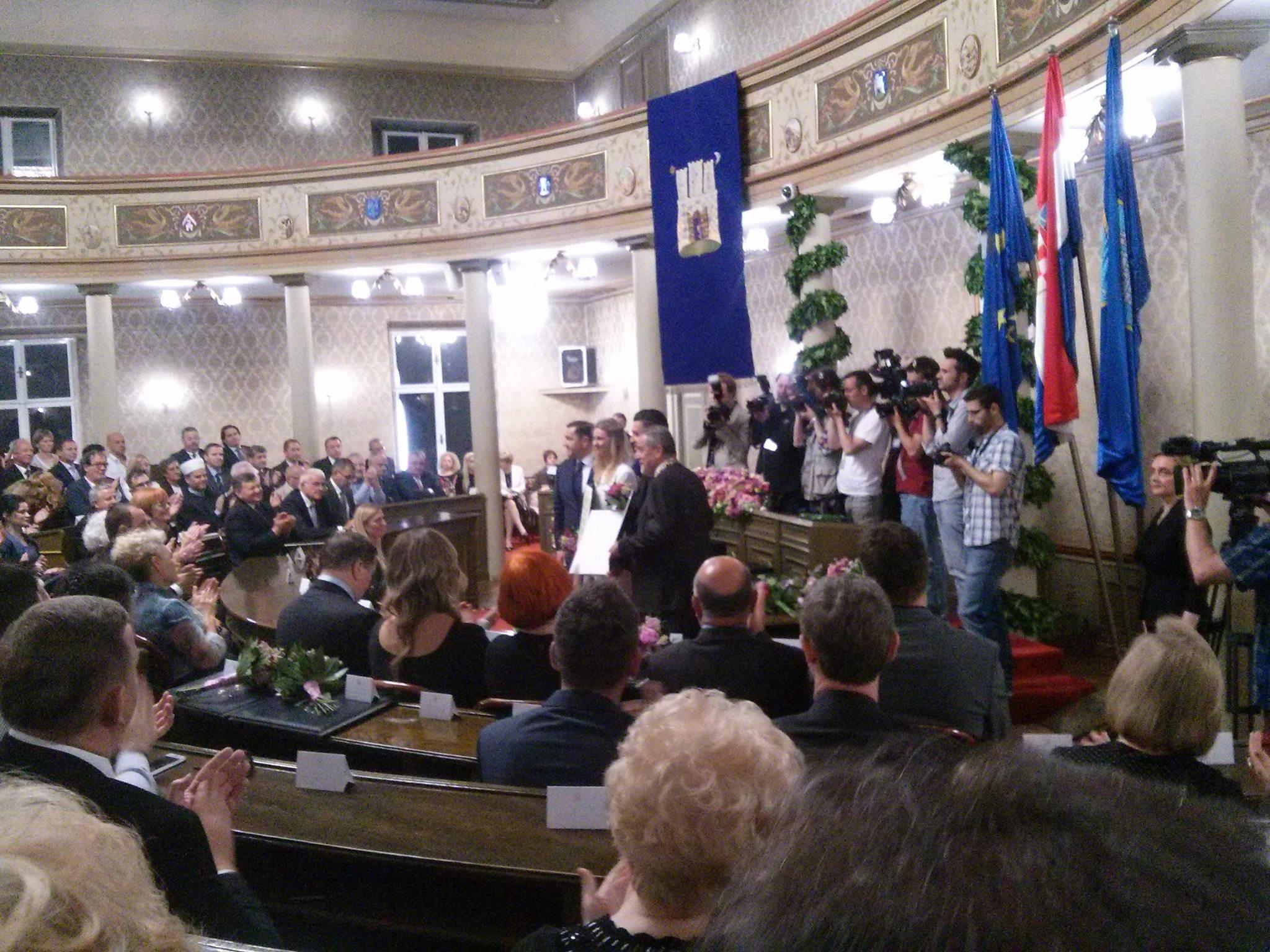 ZAGREB SLAVI DAN GRADA: Na svečanoj sjednici podijeljene nagrade zaslužnima