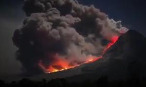 vulkan, erupcija, mount sinabung