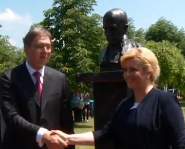 SUSRETI U HRVATSKOJ I SRBIJI: Predsjednica Grabar Kitarović i mandatar Vučić za unapređenje odnosa