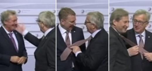 """VIDEO: RASPOLOŽENI PREDSJEDNIK - Jean Claude Juncker """"šamarao"""" ministre i natezao ih za kravate"""