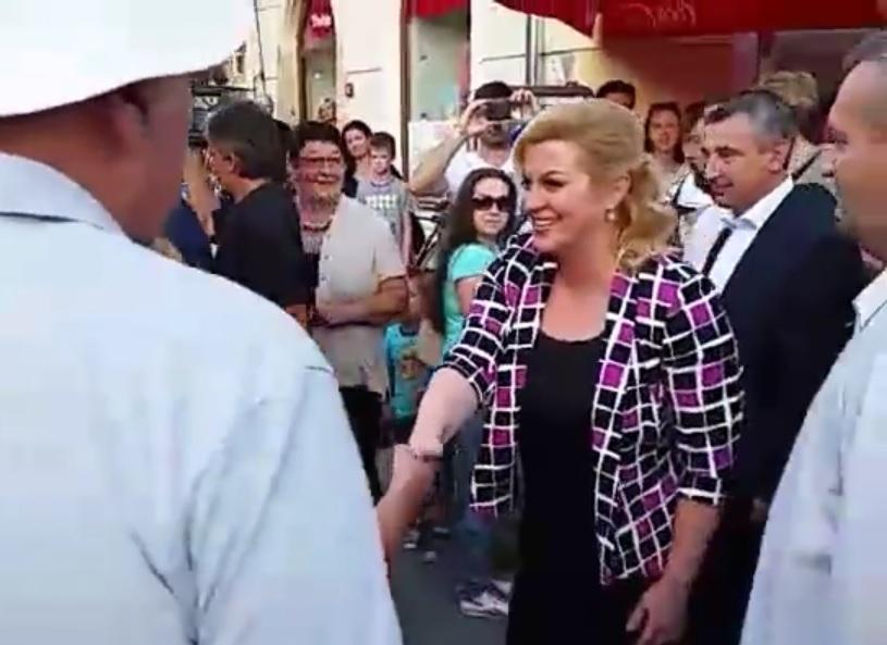 PREDSJEDNICA NA ŠPANCIRFESTU: Obišla ulice i trgove u središtu Varaždina