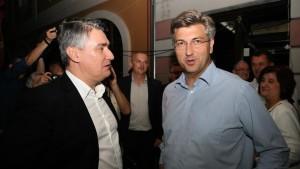 Slučajni susret starih prijatelja - Milanović i Plenković (Foto: Facebook)