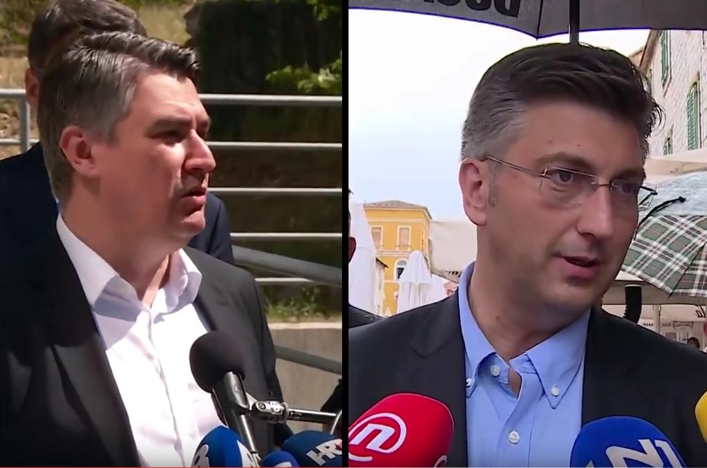 """SRELI SE I U BARBANU - Plenković: """"Malo smo popričali"""", Milanović: """"Ja sam tu 10 godina, a on je valjda došao u kampanju"""" 1"""