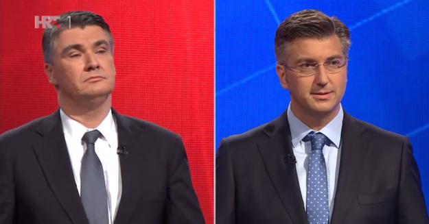 HRT DEBATA: Pogledajte kako se Plenković i Milanović nose s pitanjima o sudbini Hrvatske