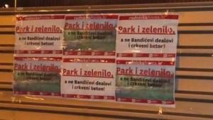 Radnička fronta protiv izgradnje crkve u parku (Foto: Radnička fronta)
