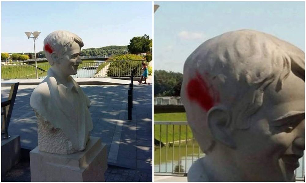 HSP PORUČUJU: Netko je oskrnavio spomenik - ne bi bilo dobro da HOS-ovci traže počinitelje!