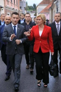 Predsjednica Kolinda Grabar Kitarović i Žarko Tušek