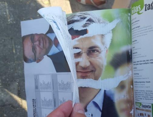 SKANDAL U KAMPANJI: HNS-ovci lijepili plakate Batinića preko plaćenog oglasa Plenkovića 1