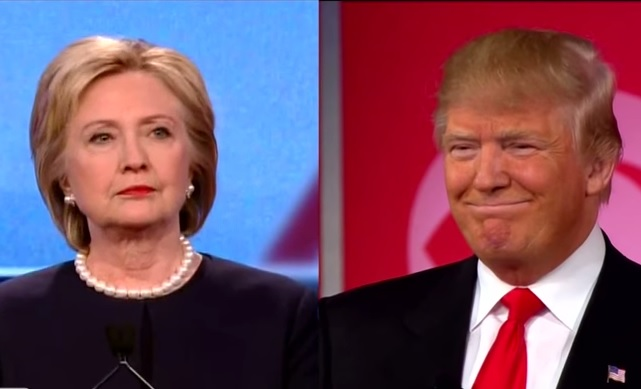 Hillary Clinton, Donald Trump 1