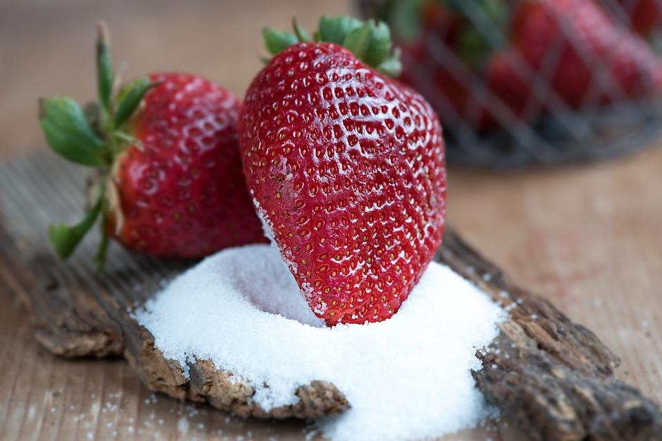 šećer, jagoda