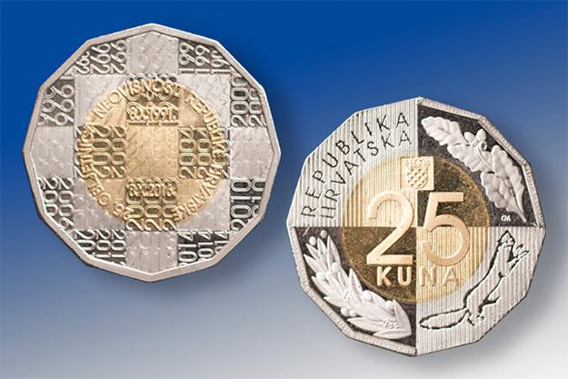 HNB, kovanica 25 kuna