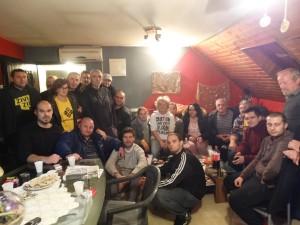 Ivan Pernar u kući obitelji Goluban na deložaciji u Zaboku (Foto: Facebook)