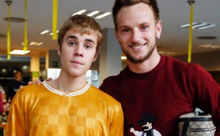 Ivan Rakitić i Justin Bieber (Foto: Facebook)