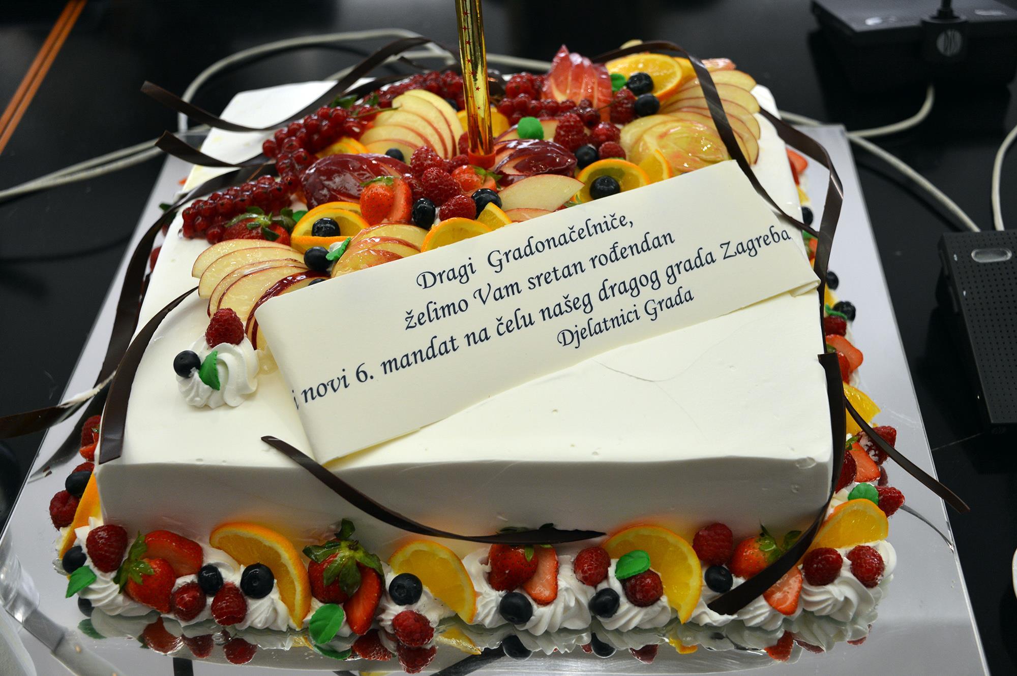 milan bandić, torta