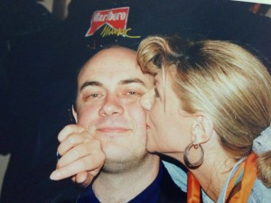 Novinar Damir Strugar ponosan je na ovu fotografiju sa Suzy.