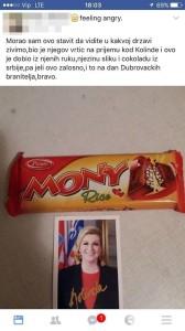 kolinda, čokolade