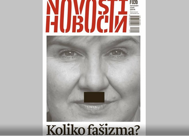 Željka Markić na spornoj naslovnici tjednika Novosti