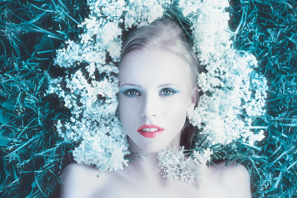 žena, cvijeće