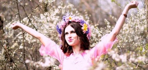 djevojka, proljeće