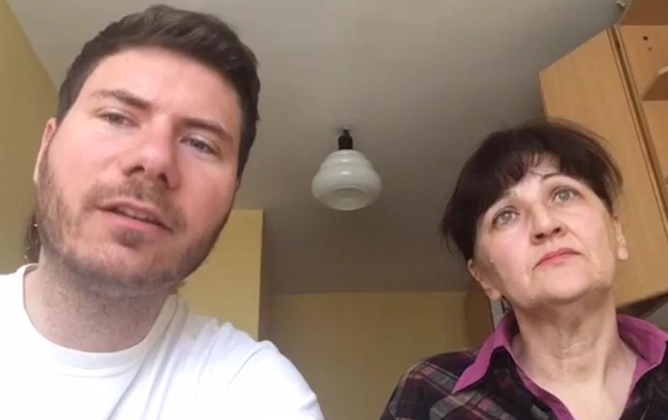 Nevenka Licun i Ivan Pernar za vrijeme razgovora o deložaciji (Foto: Facebook)