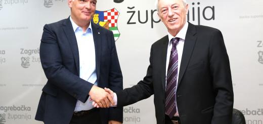 župan Zagrebačke županije Stjepan Kožić i gradonačelnik Grada Ivanić-Grada Javor Bojan Leš