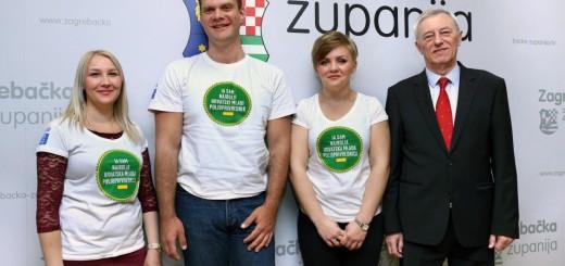 Mladi poljoprivrednici sa županom Stjepanom Kožićem