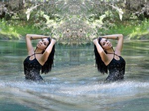 djevojka, kupaći kostim, vitka linija