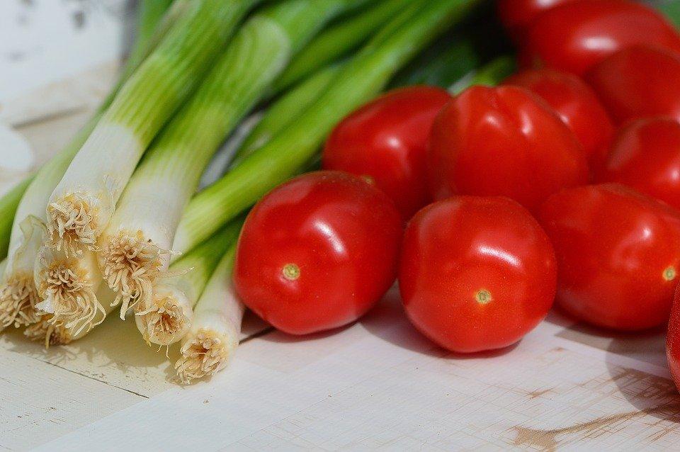 mladi luk, rajčica