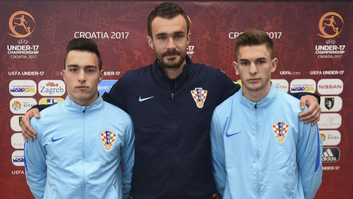 Leon Kreković, izbornik Dario Bašić i Bartol Franjić (Foto: HNS)