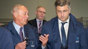 Zvonko Jutriša s premijerom Andrejom Plenkovćem