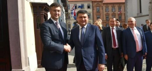 Andrej Plenković i Volodimir Grojsman (Foto: Twitter)